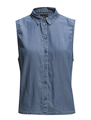 SFFALULA SL SHIRT - FJ - Medium Blue Denim