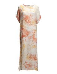 SFBETTY SS LONG DRESS F - White Asparagus
