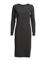 SFLINEA LS DRESS STRIPES  EX CAMPAIGN - Dark Grey Melange