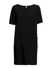 SFFAHARA 2/4 DRESS SOLID EX - Black