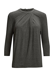 SFMILLA 3/4 SLEEVE TOP - Dark Grey Melange
