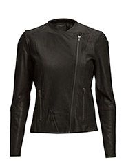 SFDANJAS LS LEATHER BLAZER - Black