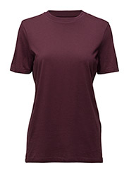 SFMY PERFECT SS TEE - BOX CUT COLOR - MAUVE WINE