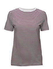 SFMY PERFECT SS TEE - BOX CUT-STRI. NOOS - MAUVE WINE