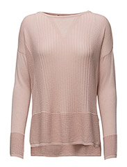 SFAMBA LS KNIT PULLOVER - PEACH WHIP