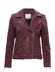 SFSANELLA LEATHER JACKET - PLUM PERFECT