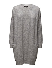 SFLIVANA LS KNIT CARDIGAN NOOS - LIGHT GREY MELANGE