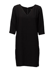 SFTUNNI SMILE 3/4 DRESS NOOS - BLACK