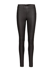 SFSYLVIA MW STRETCH LEATHER LEGGING NOOS - BLACK