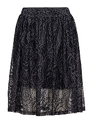 SFLERA MW LACE SKIRT EX - BLACK