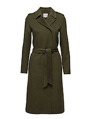 SFTAMMI WOOL COAT H - WINTER MOSS