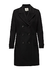 SFFINDA WOOL COAT H - BLACK