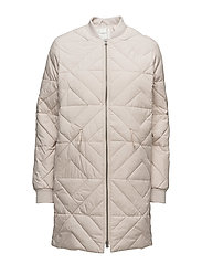 SFOLIVIA LONG DOWN JACKET - GRAY MORN