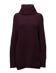 SFJAMIA LS ROLLNECK KNIT - PLUM PERFECT