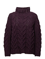 SFBLAIR LS HIGHNECK KNIT - PLUM PERFECT