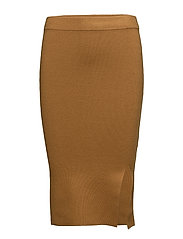 SFINETTA MW KNIT SKIRT - GOLDEN BROWN