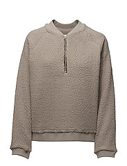 SFABIGAIL LS TEDDY SWEAT J - FLINT GRAY
