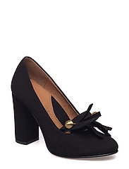 SFMEL SUEDE PUMP W. FRINGES - BLACK