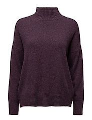 SFAYA CASHMERE LS KNIT HIGHNECK - PLUM PERFECT
