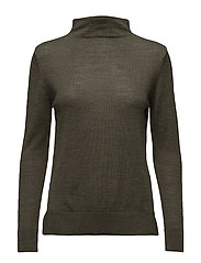 SFMERONI LS KNIT T-NECK - GRAPE LEAF