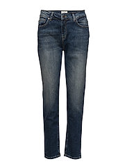 SFROXY LR BOYFRIEND NAVY WASH NOOS - MEDIUM BLUE DENIM
