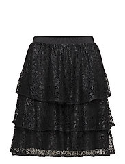 SFMARCIA MW LACE SKIRT - BLACK