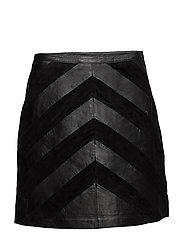 SFROBBI MW LEATHER SKIRT - BLACK