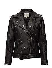 SFSTUDI LEATHER BIKER J - BLACK