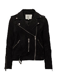 SFSANELLA LEATHER JACKET NOOS - BLACK