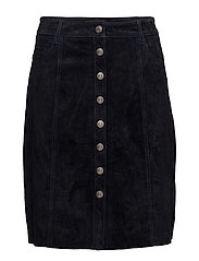 SFATLA MW LEATHER SKIRT - DARK NAVY