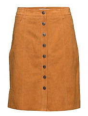 SFATLA MW LEATHER SKIRT - DESERT SUN