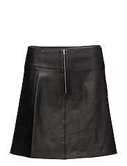 SFBONNIE MW LEATHER SKIRT - BLACK