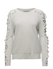 Selected Femme - Sfreina Ls Knit Frill O-Neck