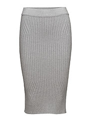 SFSITKA MW KNIT SKIRT - LIGHT GREY MELANGE