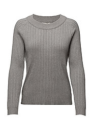 SFSITKA L/S KNIT O-NECK - LIGHT GREY MELANGE
