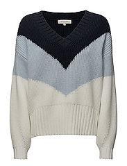 Selected Femme - Sfmargella Ls Knit V-Neck