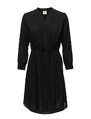 SLFDAMINA 7/8 DRESS NOOS - BLACK