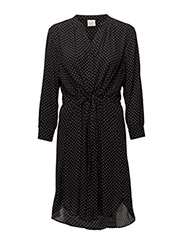 SLFDAMINA 7/8 DOT DRESS NOOS - BLACK