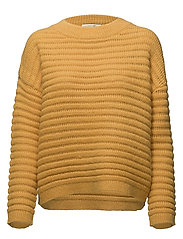 SFBILA LS KNIT O-NECK - CITRUS
