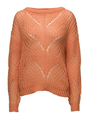 SFFLORE LS KNIT O-NECK EX - CORAL GOLD