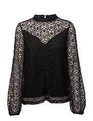 SFLACIE LS LACE TOP - BLACK