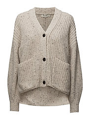 SFMARGENE LS KNIT STRUCTURE CARDIGAN EX - BIRCH