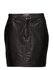 SFJESSIE LEATHER SKIRT J - BLACK
