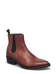 SFBIBS LEATHER BOOT - COGNAC