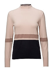 SFSKYLA LS KNIT HIGH NECK - SEPIA ROSE
