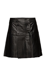 SFZADIG MW LEATHER SKIRT J CAMP - BLACK