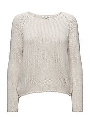 SLFOLGA LS KNIT WIDE O-NECK - BIRCH