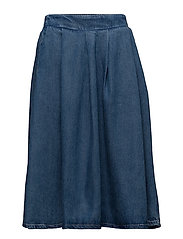 SLFHELLA HW MIDI DENIM SKIRT W - LIGHT BLUE