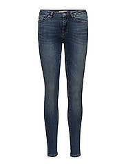 SLFIDA MW BRUCE BLUE JEANS W - MEDIUM BLUE DENIM