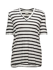 SFVITA 2/4 V-NECK TEE - STR. COLOR - BRIGHT WHITE